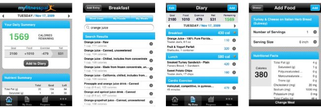 Not my food diary, but a good example. Source