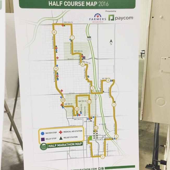 2016 Half Marathon Course Map